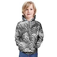 cheap -Kids Boys' Basic Tie Dye Long Sleeve Hoodie & Sweatshirt Gray