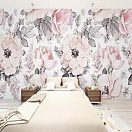 Недорогие -индивидуальные самоклеящиеся настенные обои чернила и красивые цветы, подходящие для спальни, гостиной, кафе, ресторана, отеля, украшения стен детской комнаты, художественная настенная ткань, обои для