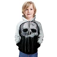 cheap -Kids Boys' Basic 3D Long Sleeve Half Sleeve Hoodie & Sweatshirt Black