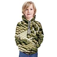 cheap -Kids Boys' Basic Color Block Long Sleeve Hoodie & Sweatshirt Army Green