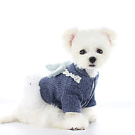 Dog Dress Princess Party Cute Christmas Party Winter Dog Clothes Warm Blue Pink Costume Plush XS S M L XL
