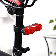 お買い得  -LED 自転車用ライト クリップとマウント 自転車グローライト 後部バイク光 バイク サイクリング 防水 LED ライトウェイト CR2032 6 lm ボタン レッド 日常使用 サイクリング