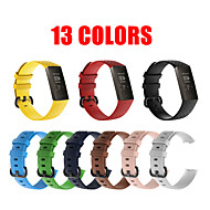 cheap -13 Colors Charge 3 Strap Pure Color Silicone Replacement Smart Watch Bracelet Charge 4 For Fitbit Charge 3 Band Wristband Belt Fitbit band