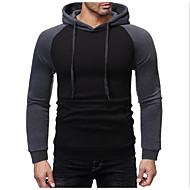 お買い得  -男性用 プルオーバーフーディースウェットシャツ カラーブロック ベーシック パーカー トレーナー ブラック ブルー ライトグレー