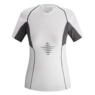 お買い得  -女性用 半袖 サイクリングジャージー ホワイト パッチワーク バイク Tシャツ ジャージー マウンテンサイクリング ロードバイク 速乾性 スポーツ 衣類 / 伸縮性あり
