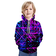 cheap -Kids Boys' Basic Tie Dye Long Sleeve Hoodie & Sweatshirt Purple