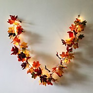 Недорогие -1,7 м 20 светодиодов осенью кленовый лист ротанга светодиодные струнные огни праздник партия сад праздник благодарения праздник декоративный свет без батареи доставки