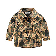 cheap -Kids Boys' Basic Geometric Print Long Sleeve Shirt Light Brown