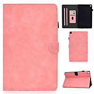 cheap -Case For Samsung Galaxy Samsung Tab A 10.1(2019)T510 Card Holder  Shockproof  Flip Full Body Cases PU Leather  TPU Solid Colored
