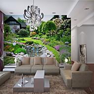 Недорогие -украшение дома на заказ самоклеющиеся настенные обои красивый сад ручей подходит для спальни гостиная кафе ресторан украшение стен отеля искусство