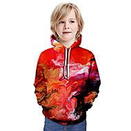 cheap -Kids Boys' Basic Galaxy Long Sleeve Hoodie & Sweatshirt Red