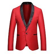 זול -בגדי ריקוד גברים דש קלאסי בלייזר לבן / שחור / יין US32 / UK32 / EU40 / US34 / UK34 / EU42 / US36 / UK36 / EU44