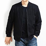 Недорогие -Муж. Куртка Обычная Однотонный Повседневные Классический Черный US34 / UK34 / EU42 / US36 / UK36 / EU44 / US38 / UK38 / EU46