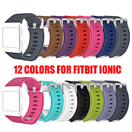 cheap -12 Colors S L Size Silicone Sport Watch Bands Bracelet for Fitbit Ionic Smart Watch Strap band Adjustable Replacement Bangle Accessories