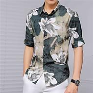 זול -בגדי ריקוד גברים חולצה פרחוני צמרות בסיסי תלתן