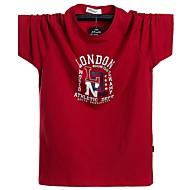 お買い得  -男性用 Tシャツ ソリッド トップの ブラック ルビーレッド グリーン