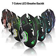 お買い得  -litbest x8ワイヤレス2.4g光学ゲーミングマウスエルゴノミックマウスLED呼吸灯1800 dpi 3調整可能なdpiレベル6個キー