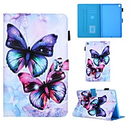 cheap -Case For Samsung Galaxy Tab A 10.1(2019)T510 Tab A 8.0(2019)T290 295 TAB A 7.0 T280 T285 T580 Card Holder with Stand Flip Full Body Cases Butterfly PU Leather