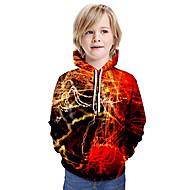 cheap -Kids Boys' Basic Tie Dye Long Sleeve Hoodie & Sweatshirt Red