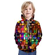 cheap -Kids Boys' Basic Tie Dye Long Sleeve Hoodie & Sweatshirt Rainbow