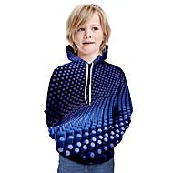 cheap -Kids Boys' Basic Tie Dye Long Sleeve Hoodie & Sweatshirt Blue