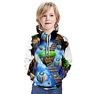 cheap -Kids Boys' Basic 3D Long Sleeve Hoodie & Sweatshirt Light Blue