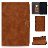 cheap -Case For Samsung Galaxy Samsung Tab A 8.0(2019)T290 295 Card Holder Shockproof Flip Full Body Cases Solid Colored PU Leather TPU