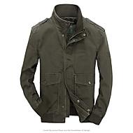 זול -בגדי ריקוד גברים ג'קט רגיל אחיד יומי בסיסי שחור / ירוק צבא / חאקי US34 / UK34 / EU42 / US36 / UK36 / EU44 / US38 / UK38 / EU46