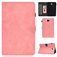 cheap -Case For Samsung Galaxy Samsung TAB A 10.1 P580N P585N Tab S6 Lite (SM-P610 615) Card Holder  Shockproof  Flip Full Body Cases  PU Leather  TPU Solid Colored
