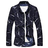 זול -בגדי ריקוד גברים מידות גדולות חולצה גראפי דפוס צמרות בסיסי לבן כחול נייבי אפור