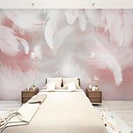 Недорогие -арт-деко на заказ самоклеющиеся настенные обои перо картина подходит для спальни гостиная кафе ресторан отель украшения стены искусство