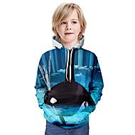 cheap -Kids Boys' Basic Animal Long Sleeve Hoodie & Sweatshirt Blue