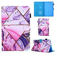 cheap -Case For Samsung Galaxy Tab A 10.1(2019)T510 Tab A 8.0(2019)T290 295 TAB A 7.0 T280 T285 T580 Card Holder with Stand Flip Full Body Cases Marble PU Leather