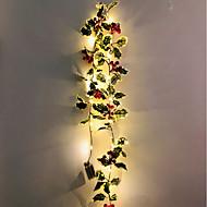 Недорогие -2 м 20 светодиодов рождественские красные фрукты виноградные листья светодиодные гирлянды благодарения рождественская вечеринка окна садовые украшения без батареи доставки