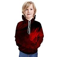 cheap -Kids Boys' Basic Geometric Long Sleeve Hoodie & Sweatshirt Wine