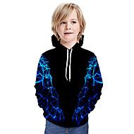 cheap -Kids Boys' Basic Tie Dye Long Sleeve Hoodie & Sweatshirt Black