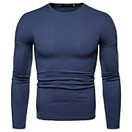 お買い得  -男性用 Tシャツ ソリッド トップの ブラック ブルー グリーン