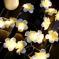 cheap -3M 20 LED String Lights Frangipani Light For Home Decoration Fairy Light Garland Christmas Outdoor Wedding Party Decortive Lamp