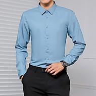 זול -בגדי ריקוד גברים חולצה אחיד צמרות בסיסי חום אפור כחול בהיר