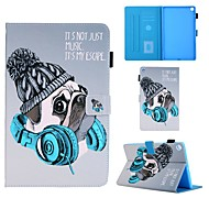 cheap -Case For Samsung Galaxy Tab A 10.1(2019)T510 Tab A 8.0(2019)T290 295 TAB A 7.0 T280 T285 T580 Card Holder with Stand Flip Full Body Cases Dog PU Leather
