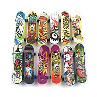 お買い得  -12 pcs 指スケートボード ミニ指板 指人形 プラスチック プロフェッショナル オフィスデスクのおもちゃ クール 子供用 青少年 男女兼用 パーティーの好意 子供のギフト用