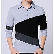 お買い得  -男性用 プラスサイズ Polo カラーブロック トップの ベーシック ブラック ライトグレー ダックグレー