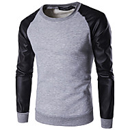 cheap -Men's Pullover Sweatshirt Color Block Casual Hoodies Sweatshirts  White Green Light gray
