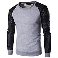 お買い得  -男性用 プルオーバースウェットシャツ カラーブロック カジュアル パーカー トレーナー ホワイト グリーン ライトグレー
