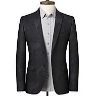 お買い得  -男性用 シングルブレスト ノッチドラペル ブレザー ソリッド ブラック XL / XXL / XXXL