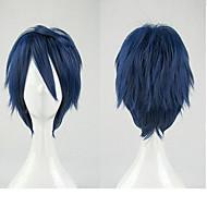 お買い得  -僕のヒーローアカデミア リダ・テンヤ コスプレウィッグ 男女兼用 レイヤード・ヘアカット 12 インチ 耐熱繊維 カール ブルー 青少年 成人 アニメウィッグ / かつら