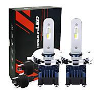 رخيصةأون -قاد السيارة المصابيح الأمامية مع رقائق الصمام 25w 2600lm h4 المصابيح الأمامية 6000k