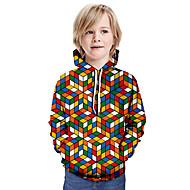 cheap -Kids Boys' Basic Color Block Long Sleeve Hoodie & Sweatshirt Rainbow