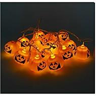 Недорогие -Хэллоуин тыква строка призрак головные лампы светодиодный свет бар 16 держатель лампы