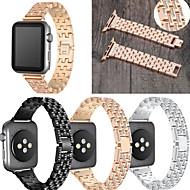 Недорогие -Ремешок для часов для Серия Apple Watch 5/4/3/2/1 Apple Классическая застежка / Дизайн украшения Нержавеющая сталь Повязка на запястье